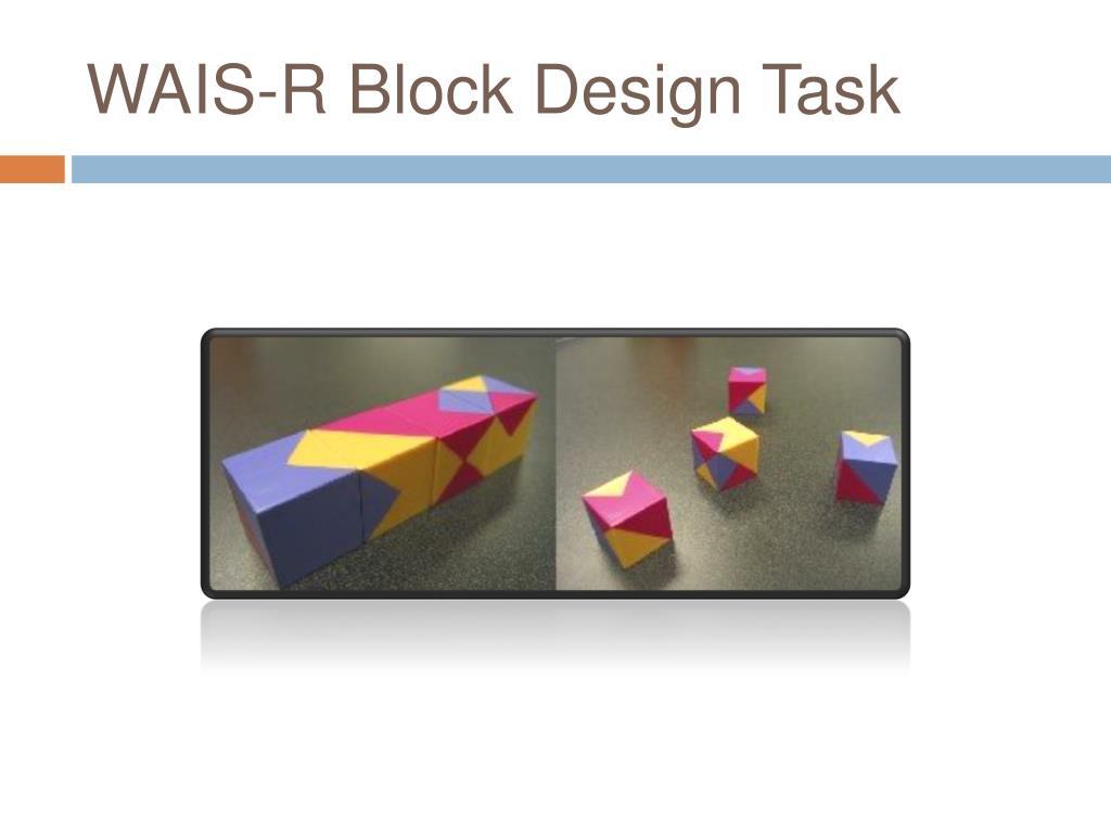 WAIS-R Block Design Task