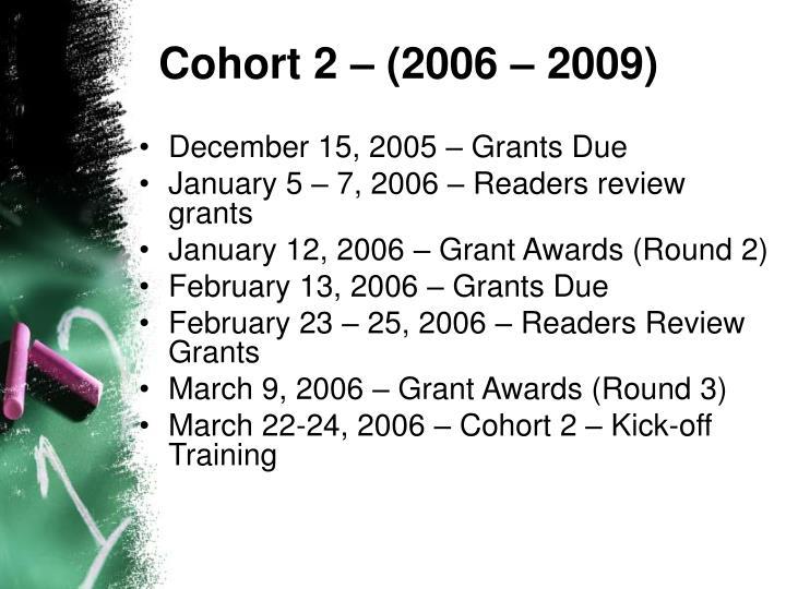 Cohort 2 – (2006 – 2009)