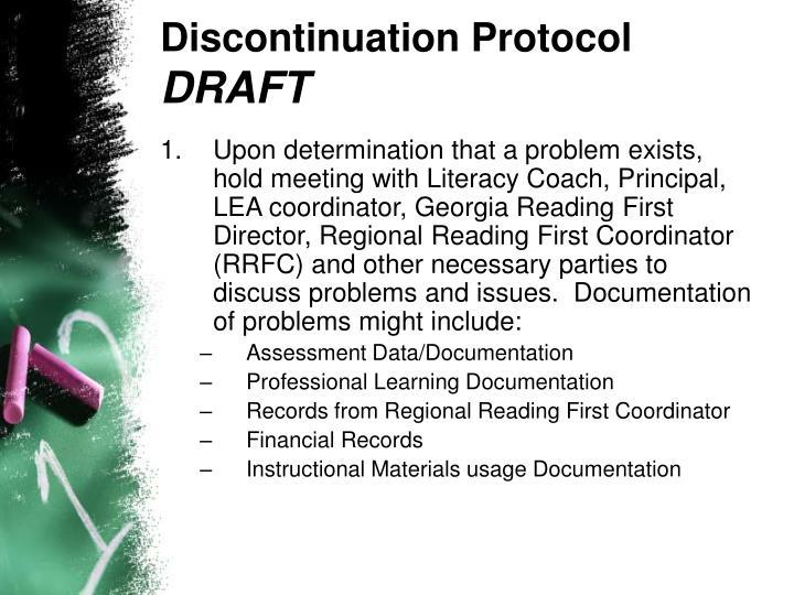 Discontinuation Protocol