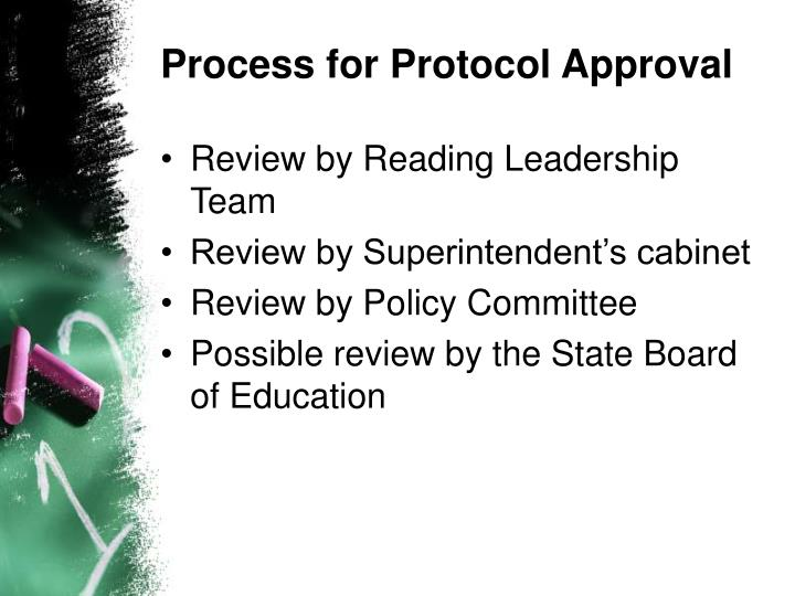 Process for Protocol Approval