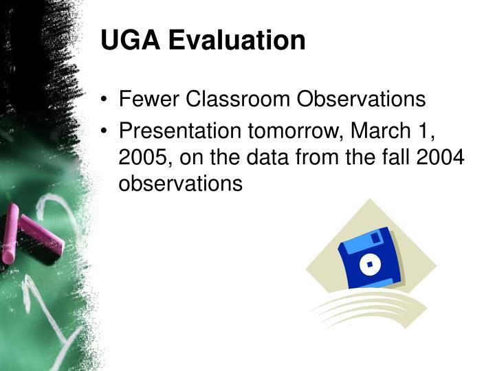 UGA Evaluation