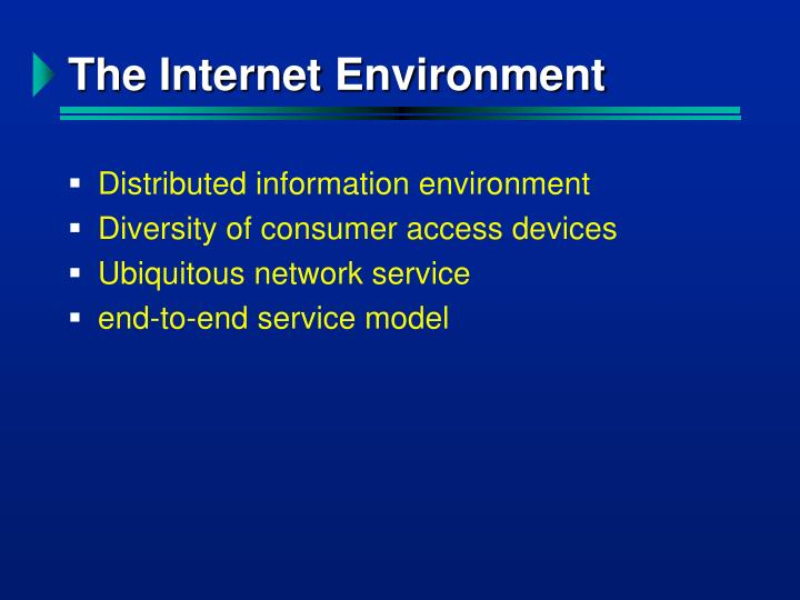 The Internet Environment