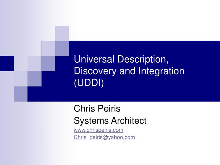 universal description discovery and integration uddi