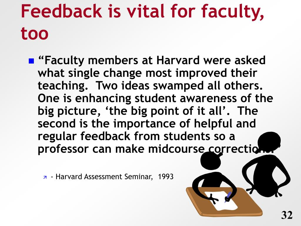 Feedback is vital for faculty, too