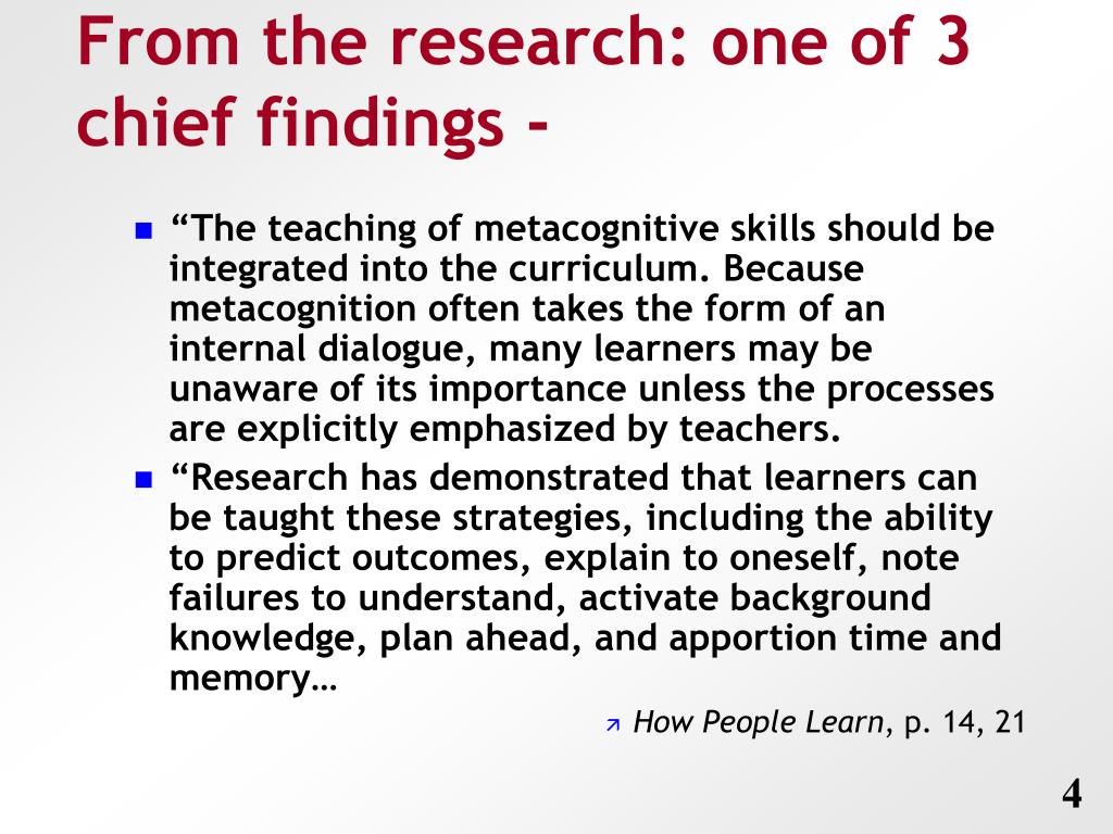 From the research: one of 3 chief findings -