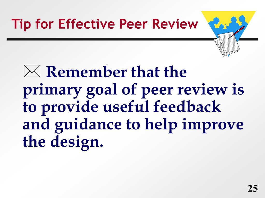 Tip for Effective Peer Review