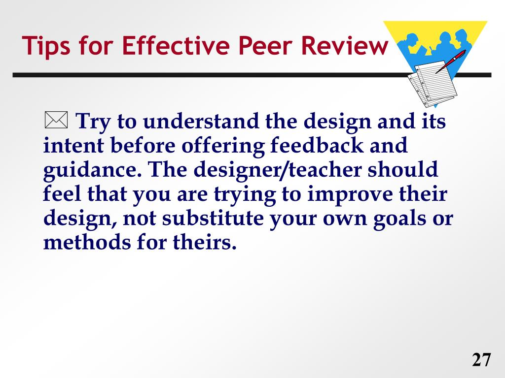 Tips for Effective Peer Review