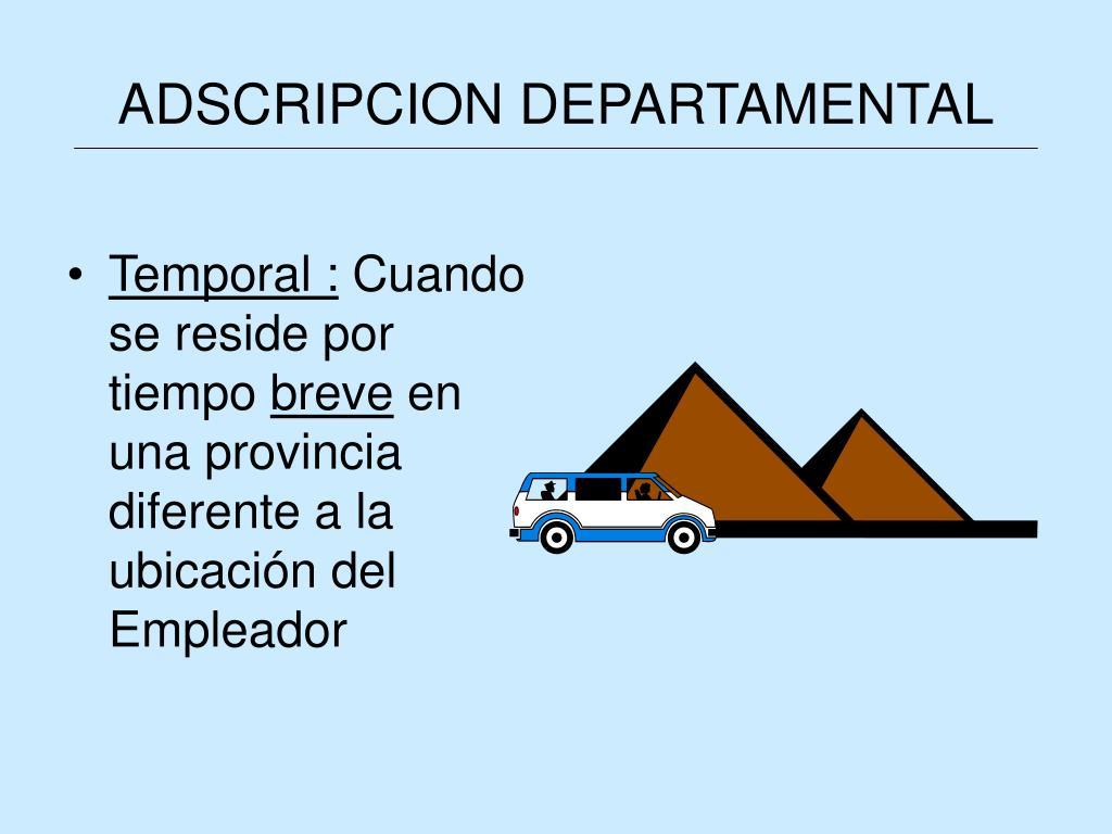 ADSCRIPCION DEPARTAMENTAL