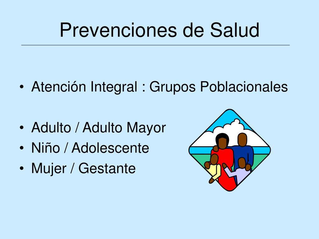 Prevenciones de Salud