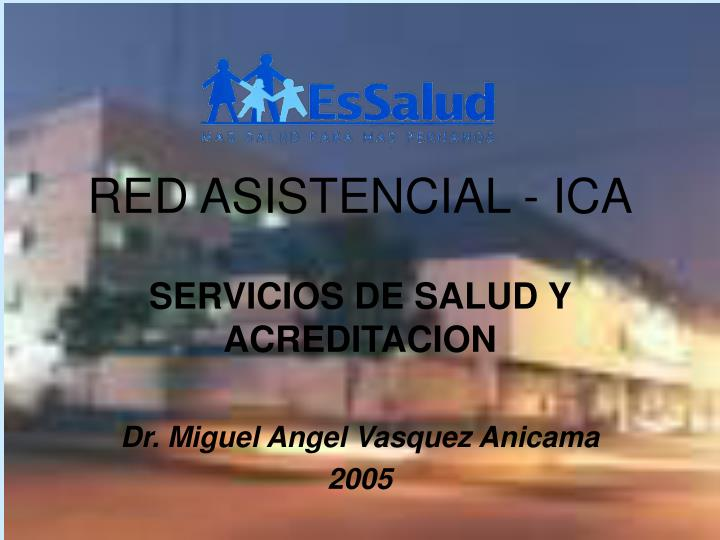Red asistencial ica