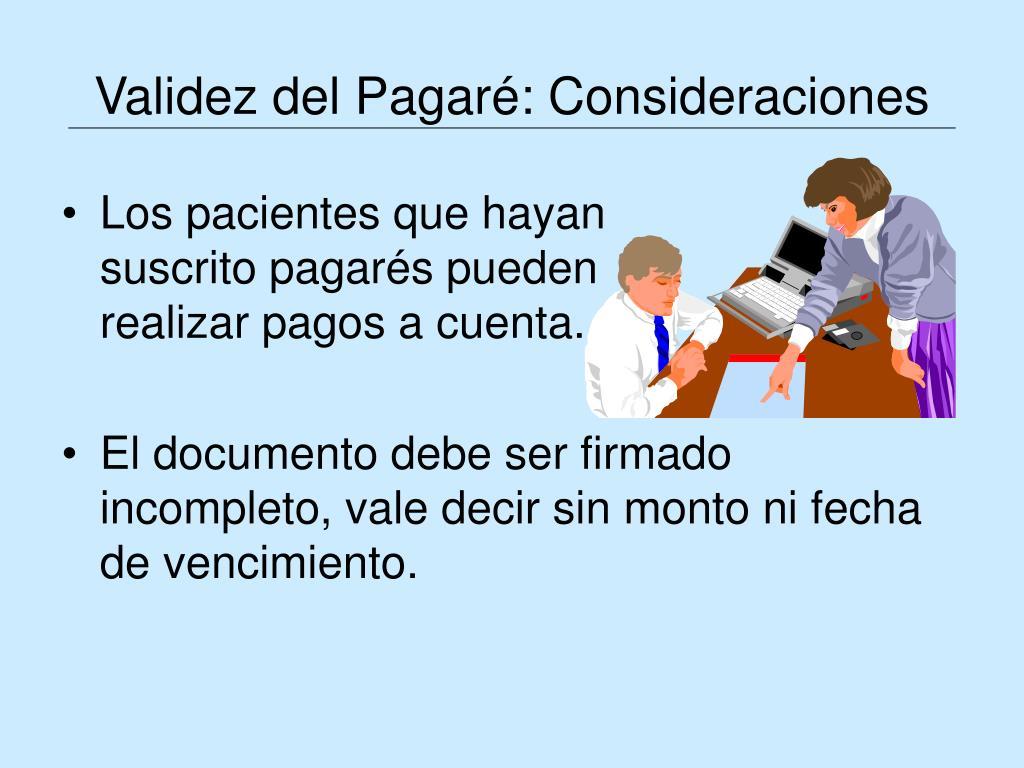 Validez del Pagaré: Consideraciones