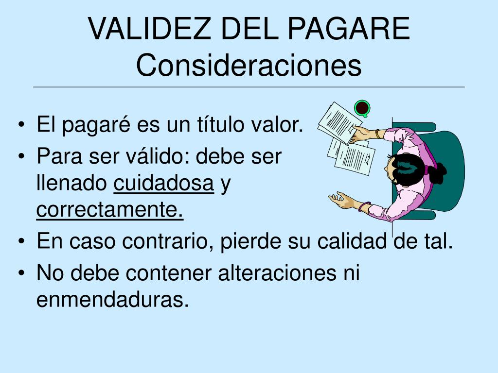 VALIDEZ DEL PAGARE