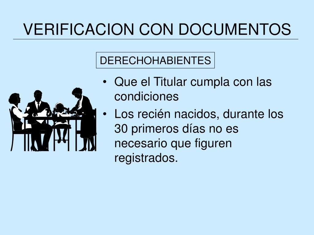 VERIFICACION CON DOCUMENTOS