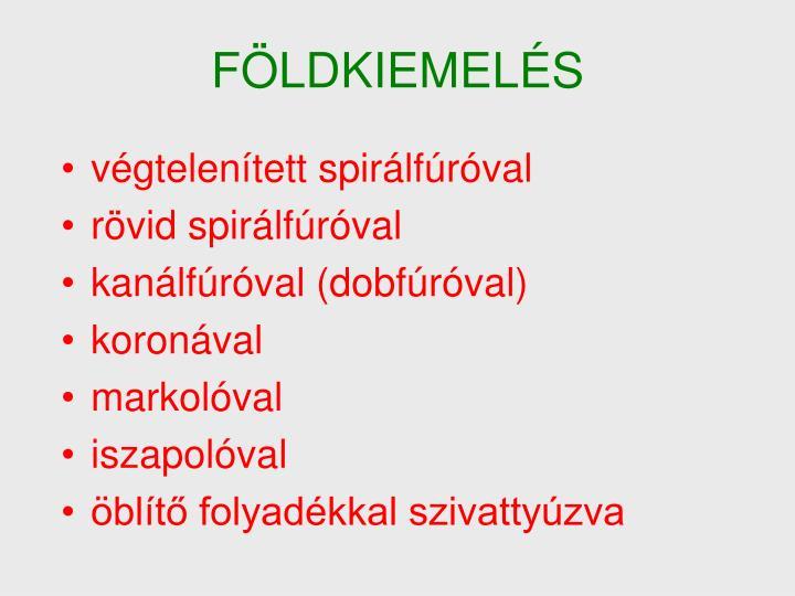 FÖLDKIEMELÉS