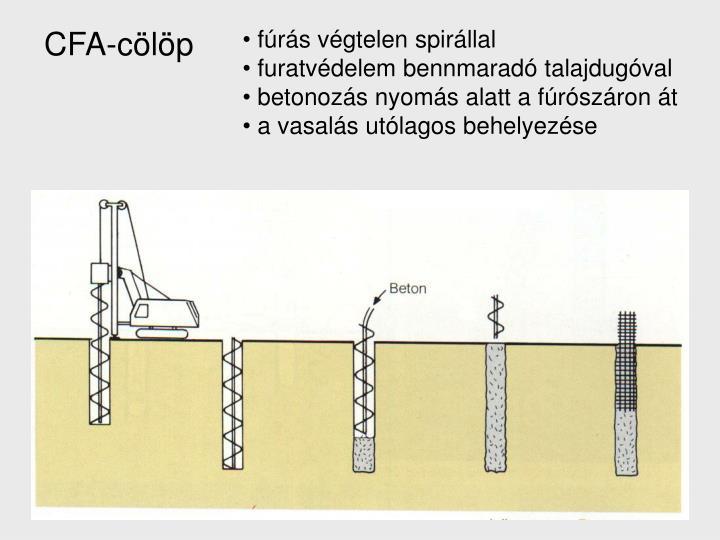 CFA-cölöp