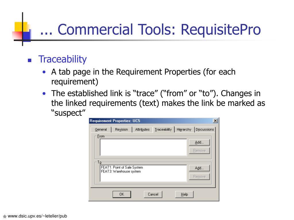 ... Commercial Tools: RequisitePro
