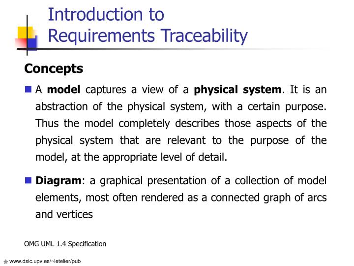 Introduction to requirements traceability
