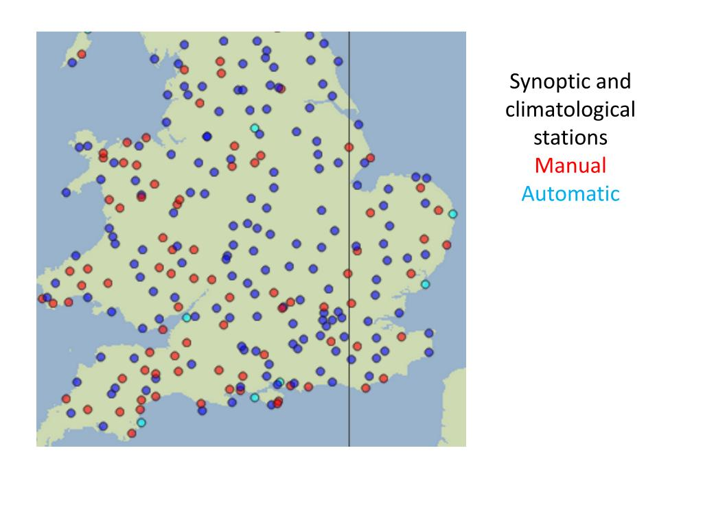Synoptic and climatological stations