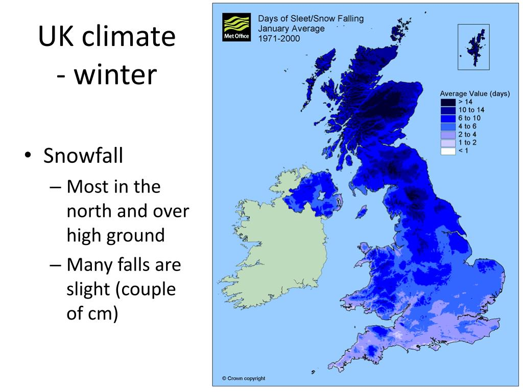 UK climate - winter