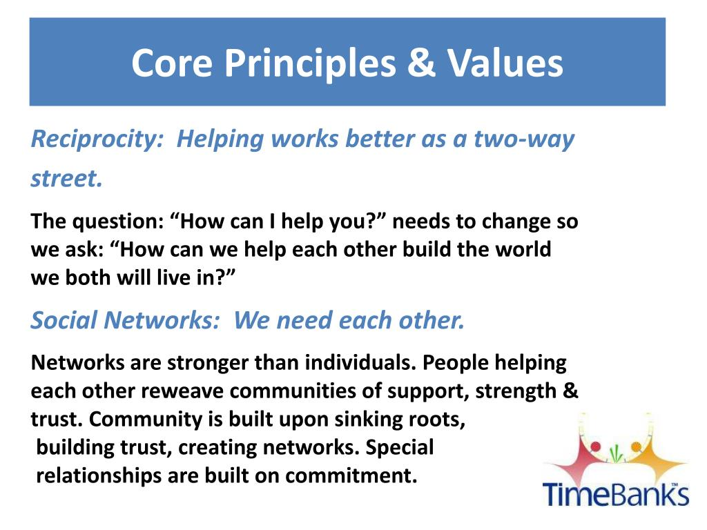 Core Principles & Values