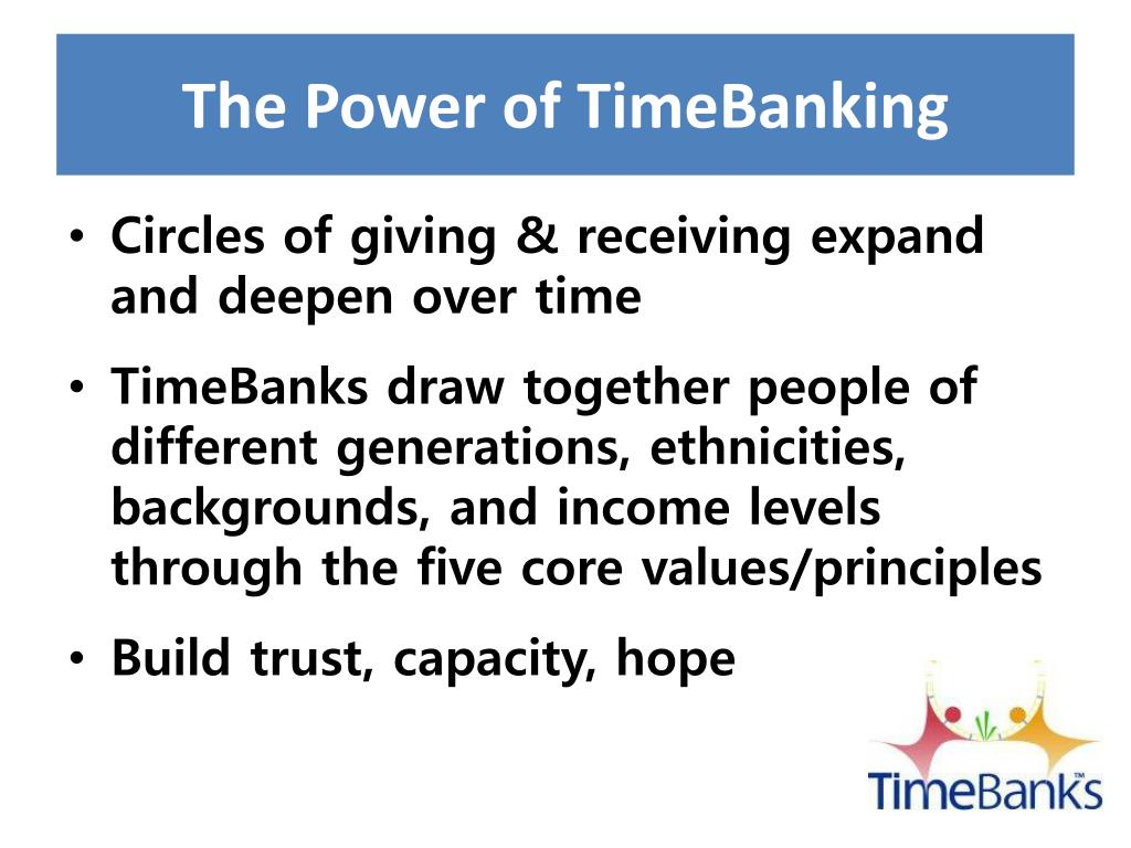 The Power of TimeBanking