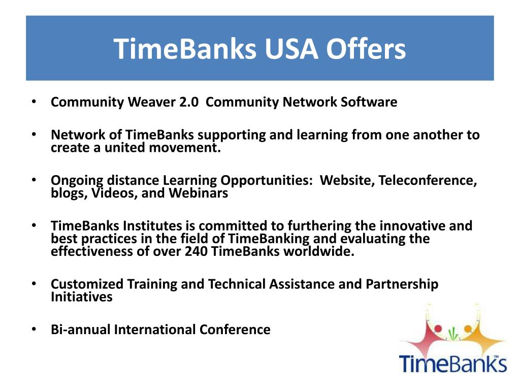 TimeBanks USA Offers