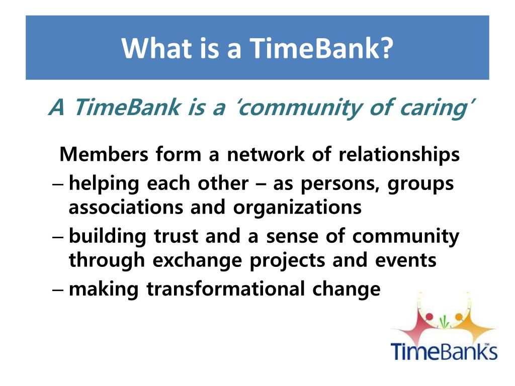 What is a TimeBank?