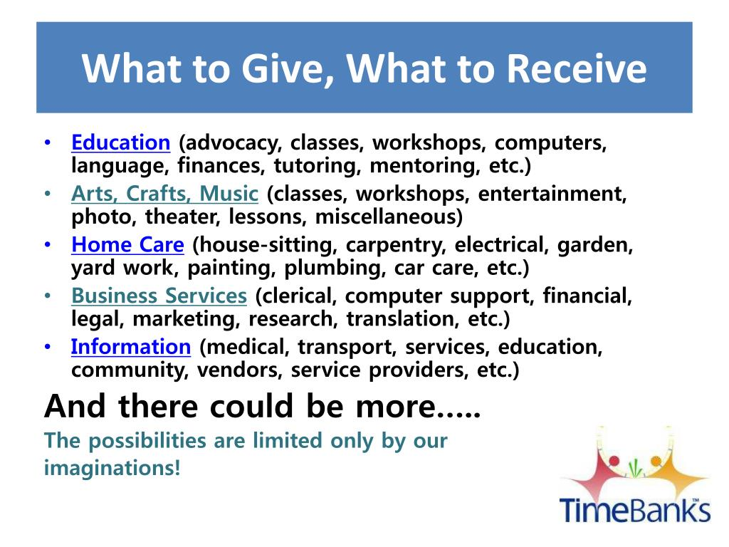 What to Give, What to Receive