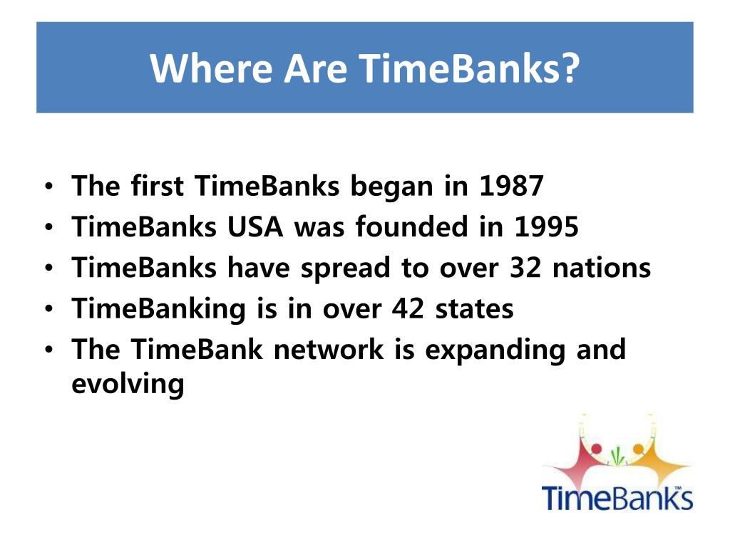 Where Are TimeBanks?