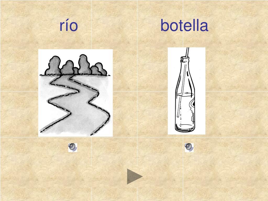 río                  botella