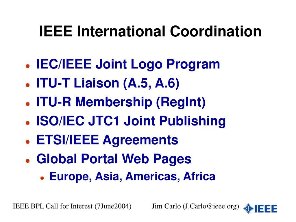 IEEE International Coordination
