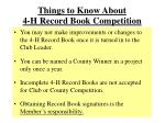 things to know about 4 h record book competition
