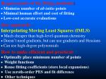requirements of the fitting methods