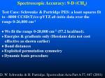 spectroscopic accuracy 9 d ch 4