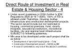 direct route of investment in real estate housing sector 4