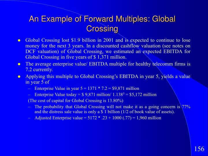 An Example of Forward Multiples: Global Crossing