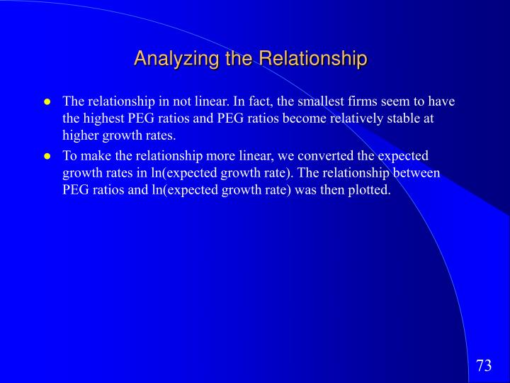Analyzing the Relationship