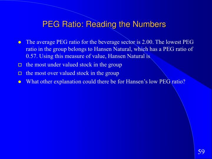 PEG Ratio: Reading the Numbers