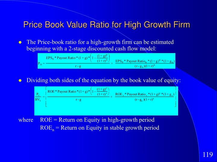 Price Book Value Ratio for High Growth Firm