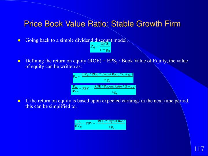 Price Book Value Ratio: Stable Growth Firm