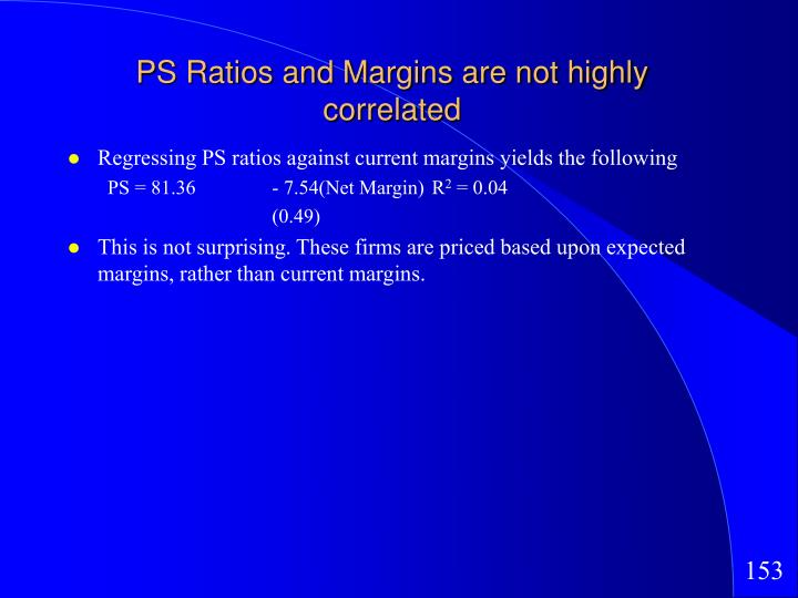 PS Ratios and Margins are not highly correlated