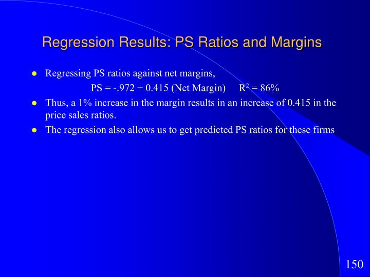 Regression Results: PS Ratios and Margins