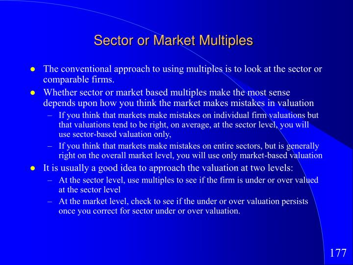 Sector or Market Multiples