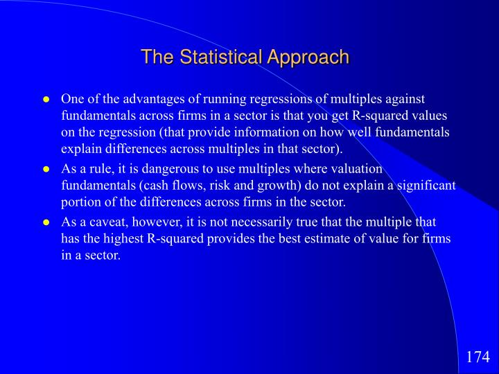 The Statistical Approach