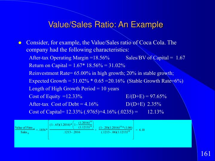 Value/Sales Ratio: An Example