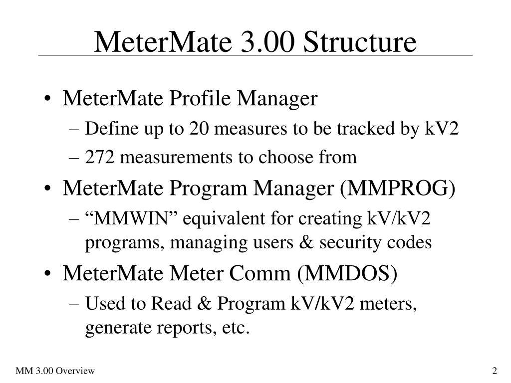 MeterMate 3.00 Structure