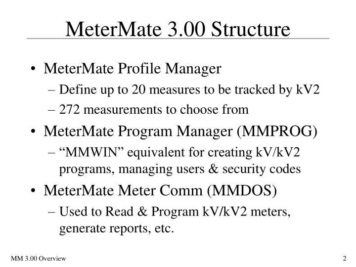 Metermate 3 00 structure