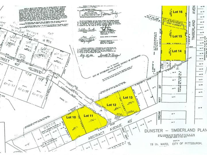 Lots suitable for residential construction abstract avenue ward neighborhood address block lot