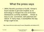 what the press says