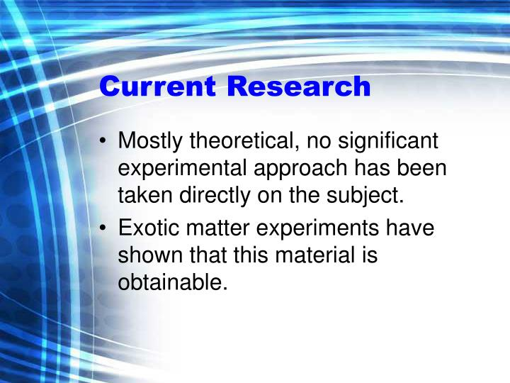 Current Research